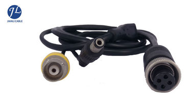 Customize RG59 BNC RCA CCTV Cables And Accessories , Reversing Camera 4 Pin Cable